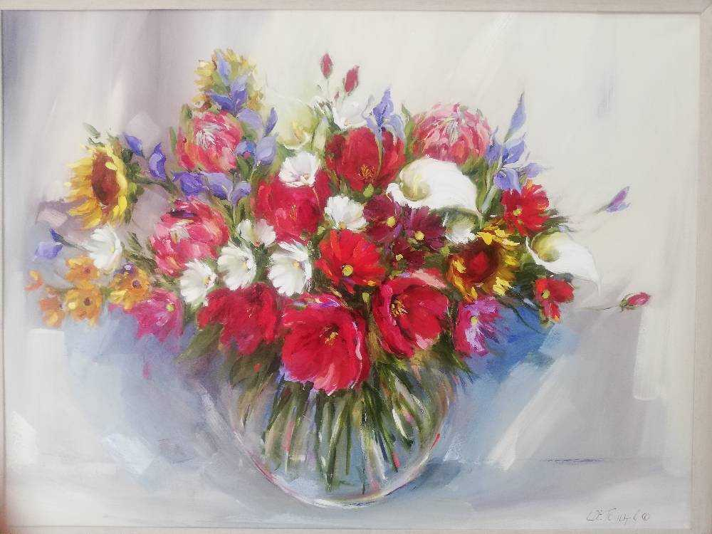 90x120 Mixed Flowers