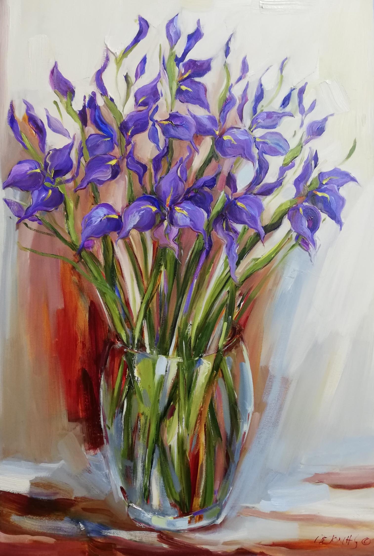 90x60cm Irises