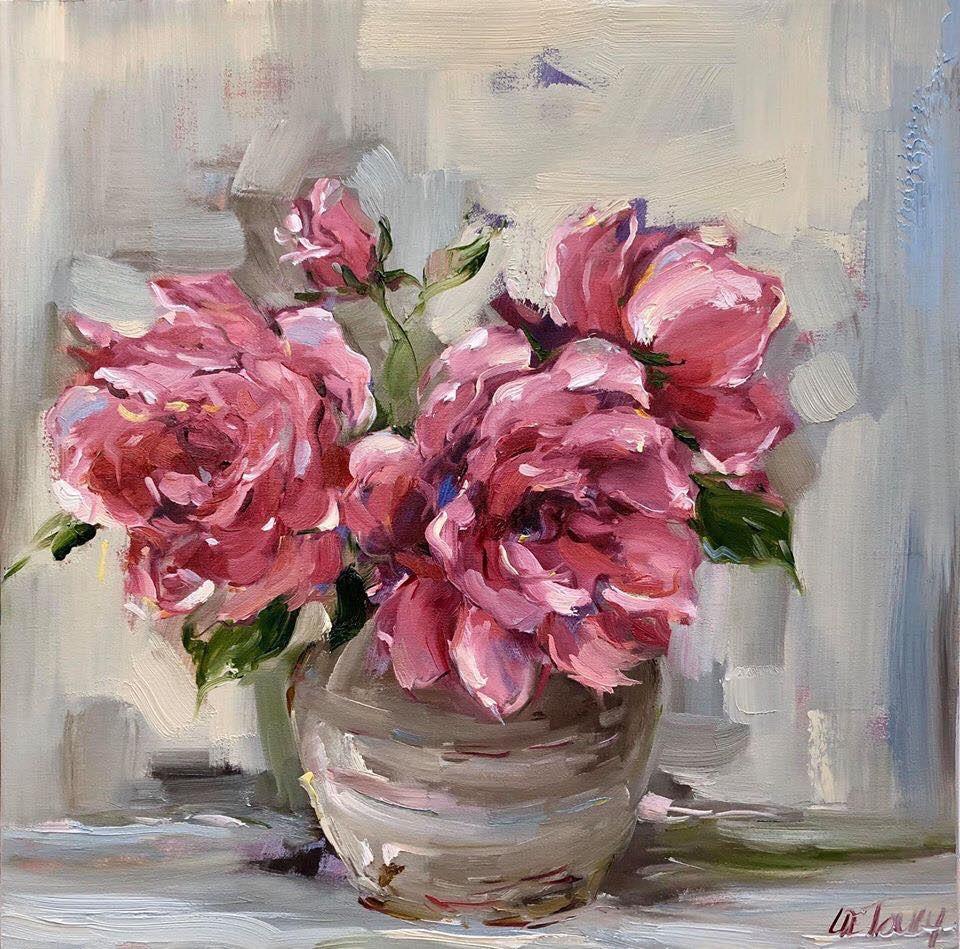 40x40cm Pink Roses
