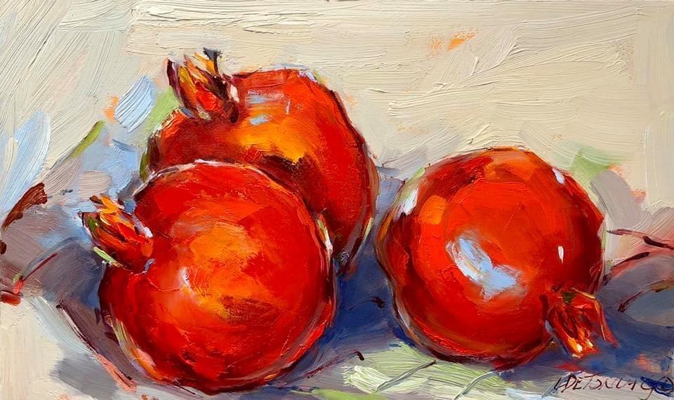 28x46cm Pomegranates