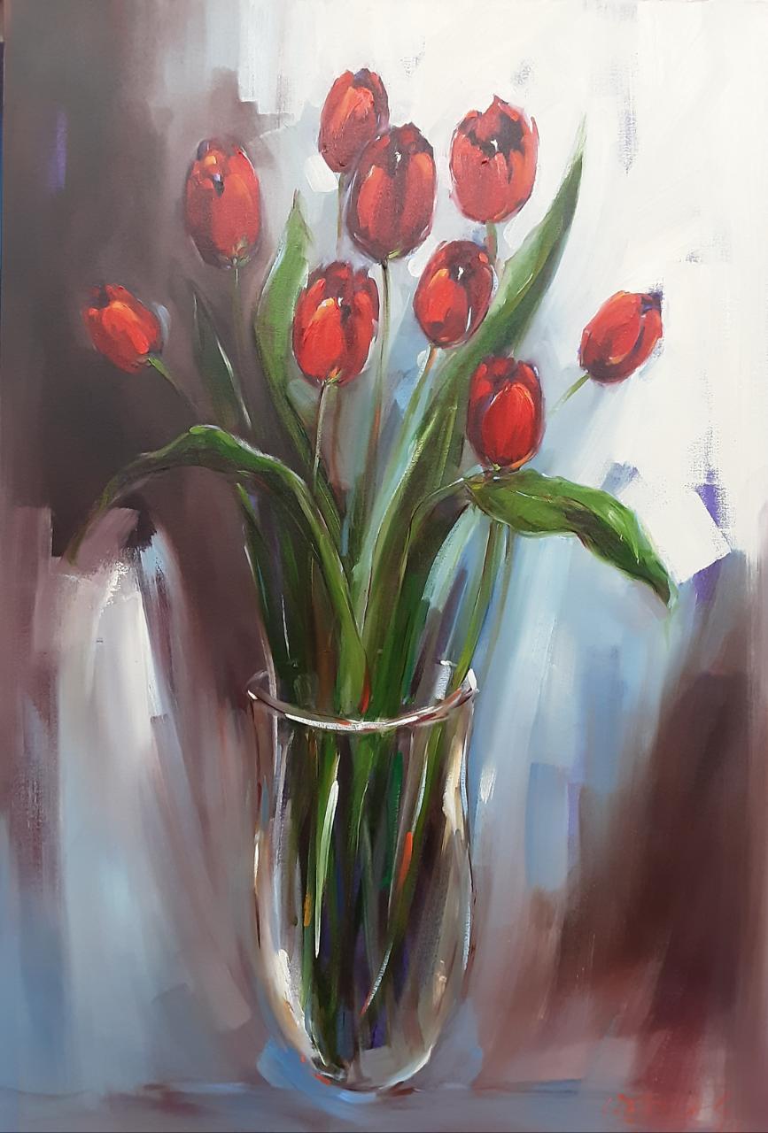 110x75cm Tulips