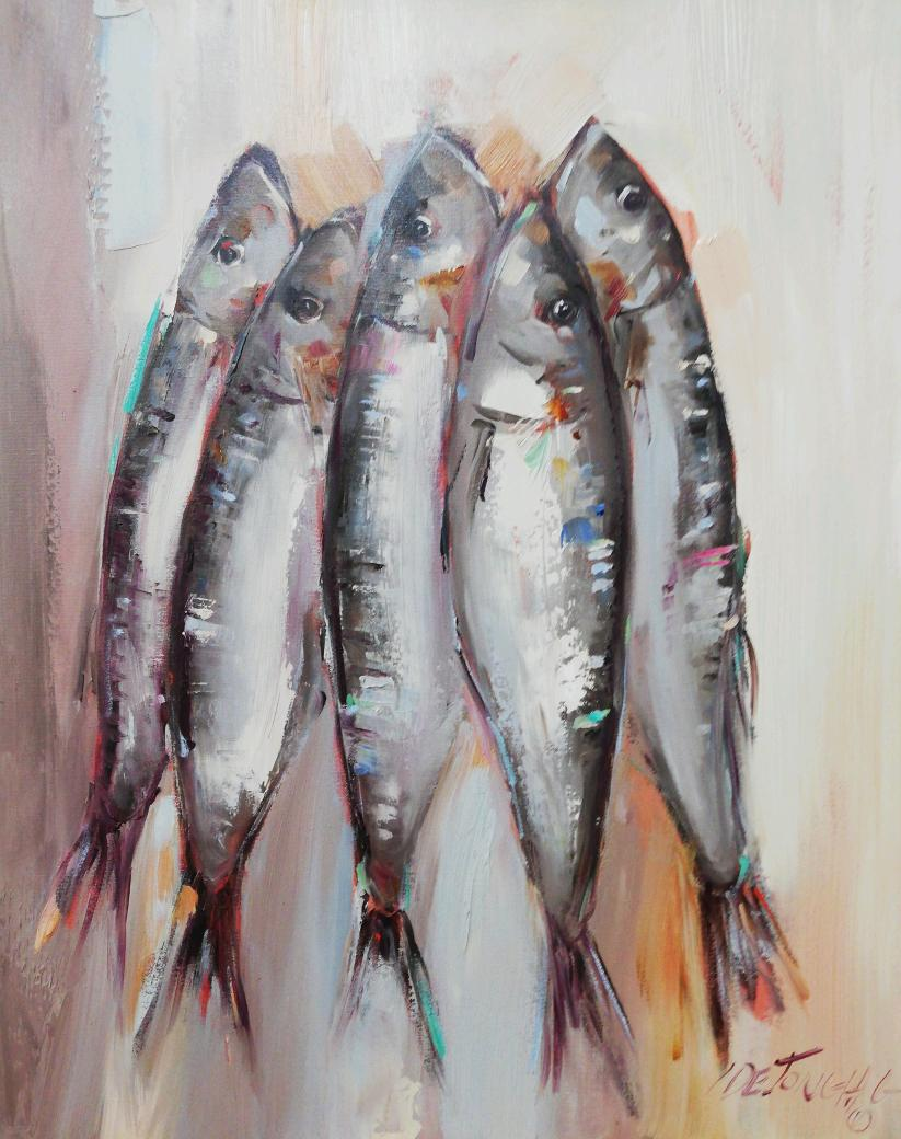 50x40cm Fishes